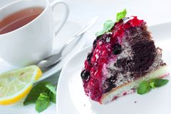 Piece of berry cake Royalty Free Stock Photos