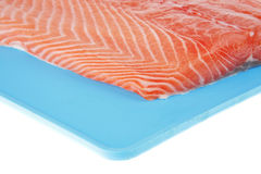 Piece of big salmon fillet Stock Image