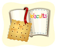 Piece of biscuit and a book Royalty Free Stock Photography