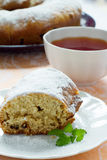 Biscuit pie and tea Royalty Free Stock Image