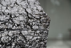 Piece of bituminous coal with sharp edge Royalty Free Stock Image