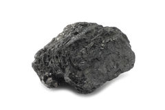 A piece of black coal Royalty Free Stock Image
