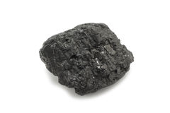 A piece of black coal Stock Images