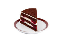 Piece of black forest cake Stock Photography