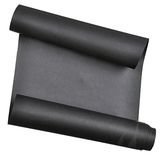 Piece of black  paper rolled up in  roll isolated on white background Royalty Free Stock Image