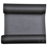 Piece of black  paper rolled up in  roll isolated on white background Stock Image