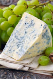 Piece of blue cheese with fruits Royalty Free Stock Photo
