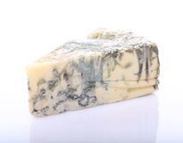 Piece on blue cheese with mold Stock Image