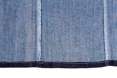Piece of blue jeans fabric Royalty Free Stock Image