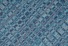 Piece of blue knitted cloth Royalty Free Stock Photos