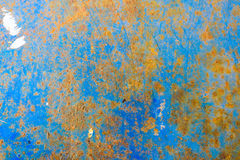 Piece of blue metal background with scratches Stock Image