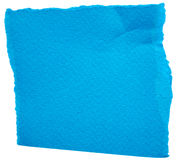 Piece of blue paper Royalty Free Stock Image