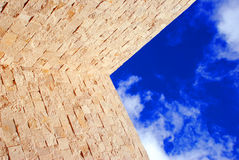 A piece of blue sky Stock Photos