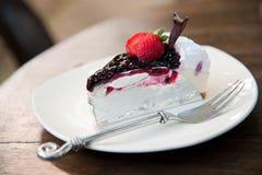 Piece of Blueberry Cheesecake Royalty Free Stock Photos