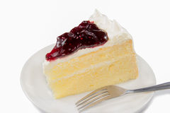 Piece of Blueberry Cheesecake Royalty Free Stock Image