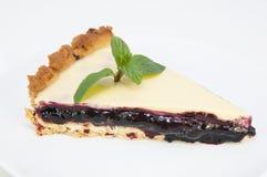 Piece of blueberry pie Stock Photo