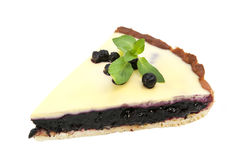 Piece of blueberry pie Stock Image
