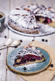 Piece of blueberry pie Royalty Free Stock Photos