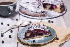 Piece of blueberry pie Stock Photography