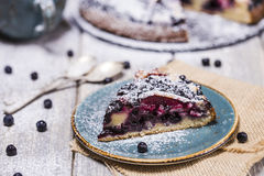 Piece of blueberry pie Royalty Free Stock Photography