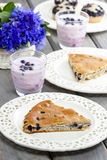 Piece of blueberry pie. Selective focus Royalty Free Stock Photo