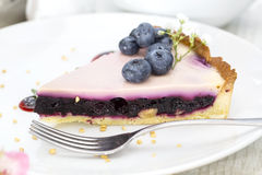 Piece of blueberry pie Royalty Free Stock Photos