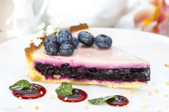 Piece of blueberry pie Royalty Free Stock Images