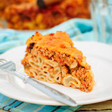 A Piece of Bolognese Pasta Bake Stock Image