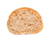 A piece of bread. A piece of new bread. Isolated on white background Stock Photo