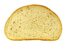 Piece of bread. A Piece of bread on a white background Stock Image