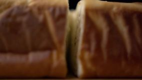 Piece of bread stock footage