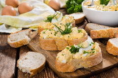 Piece of Bread with Egg Salad Royalty Free Stock Photos