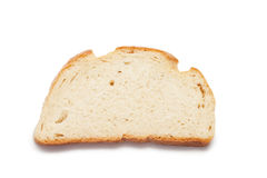 Piece of bread isolated over white Stock Photos