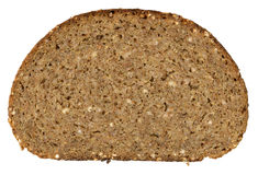 Piece of bread isolated on white Royalty Free Stock Photography