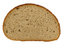 Piece of bread isolated on white. Close-up Royalty Free Stock Photo