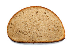 Piece of bread isolated on white background Royalty Free Stock Photos