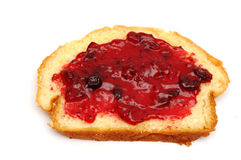 Piece of bread with jam Stock Photo