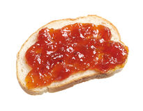 Piece of bread with jam Royalty Free Stock Photo