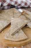 Piece of bread from rye flour with dill closeup Royalty Free Stock Photos