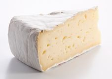Piece of brie of cheese Stock Photo