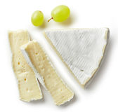 Piece of brie cheese Stock Photo