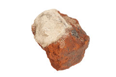 Piece of broken red brick Royalty Free Stock Photography