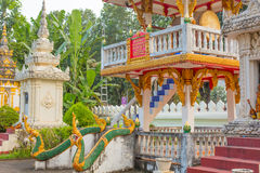A piece of Buddhish temple in Laos Royalty Free Stock Images
