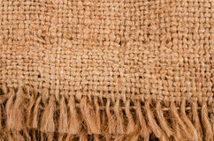 Piece of burlap with a fringe Stock Photos