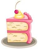 Piece of cake. Illustration of isolated piece of cake on white background stock illustration