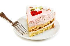Piece of cake. Isolated on white Stock Photography