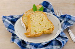 Piece of cake. On a plate Stock Photography