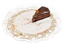 Piece of cake. The last piece of cake Stock Images