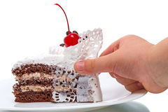 Piece of cake and baby Royalty Free Stock Photo