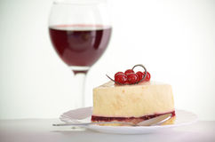 Piece of cake with berries Stock Photo